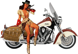 Cowgirl and Indian Decal