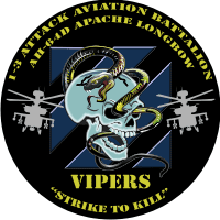 1st Battalion (Attack) 3rd Aviation Brigade Decal