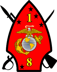 1-8 Marines Decal