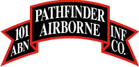 101st Airborne Pathfinder Company Scroll Decal