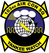 103rd Air Control Squadron - Connecticut Air National Guard Decal