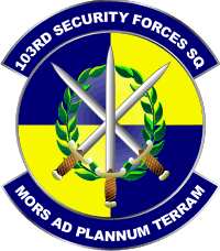 103rd Security Forces Squadron - 3 Decal