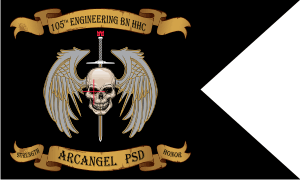 105th Engineering Battalion HHC Guidon Decal