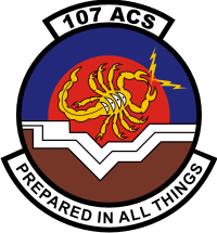 107th ACS Decal