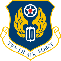 10th Air Force Shield Decal