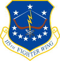 115th Fighter Wing - Wisconsin Air National Guard Decal
