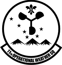 11th Operational Weather Squadron (B&W) Decal