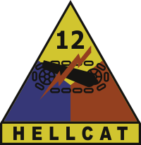 12th Armored Division Hellcat Decal