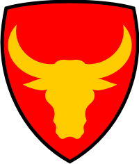 12th Infantry Division (Black Trim) Decal