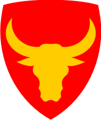 12th Infantry Division (Red Trim) Decal