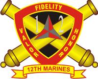 12th Marine Regiment Decal