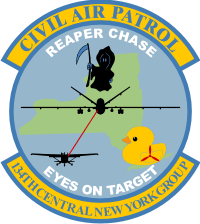 CAP NY 134 Central New York Group Reaper Chase Decal