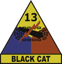 13th Armored Division Black Cat Decal