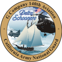 140th Aviation G Company CA Army National Guard Decal