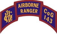 143rd Infantry Airborne Rangers Company G Scroll Decal