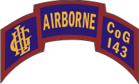 143rd Light Infantry Airborne Houston Scroll Decal