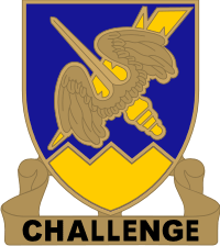 158th Aviation Regiment DUI - Gold Decal