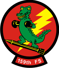 159th Fighter Squadron - Gators Decal