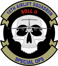 16th Airlift Squadron Special Ops Decal