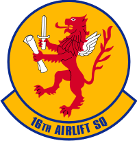 16th Airlift Squadron Decal