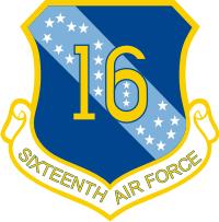 16th Air Force Decal