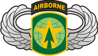 16th Military Police Brigade - Basic Jump Wings Decal