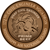 172nd Civil Engineer Squadron Air National Guard Decal