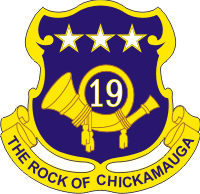 19th Infantry Regiment Decal