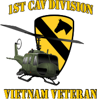 1st Cavalry UH-1 Combo Vietnam Decal