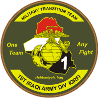 1st IA Division Military Transition Team Decal