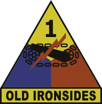 1st Armored Division Old Ironsides Decal