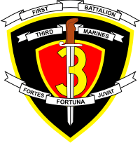 1st Battalion 3rd Marines Decal