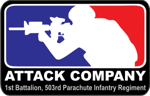 Attack Company 1st Battalion 503rd Parachute Infantry Regiment Decal