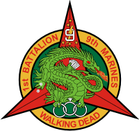 1st Battalion 9th Marines Orig Patch Courtesy Tom Clutts Decal