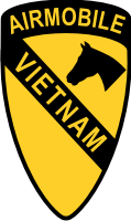 1st Cavalry Airmobile Vietnam Decal