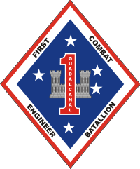 1st Combat Engineer Battalion Decal