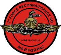1st Force Recon MARFORPAC Decal