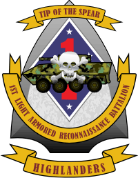 1st Light Armored Reconnaissance Battalion (v2) Decal