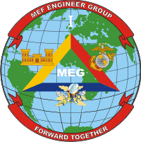 1st MEF Marine Expeditionary Force Engineer Group Decal