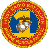 1st Radio Battalion Marine Forces Pacific Decal