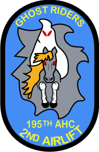 195th AHC Assault Helicopter Company, 2nd Airlift Platoon – Ghost Riders Decal