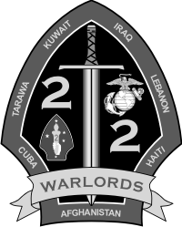2nd Battalion 2nd Marines 2nd Marine Division - 2 Subdued Decal