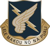 2nd Battalion (Assault) 25th Aviation Regiment DUI Decal
