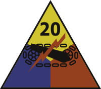 20th Armored Division Decal