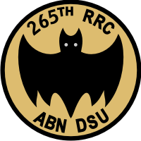 265th Radio Research Company Airborne Direct Support Unit Decal