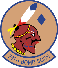 28th Bomb Sq Decal
