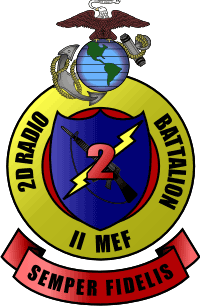 2nd Radio Battalion II MEF Marine Expeditionary Force Decal