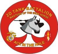 2nd Tank Battalion Decal