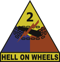 2nd Armored Division Hell On Wheels Decal