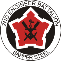 2nd Engineer Battalion - 2 Decal